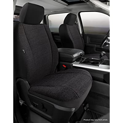 FIA TRS49-43 Black Custom Fit Front Seat Cover Bucket Seats - Saddle Blanket (Solid Black): Automotive