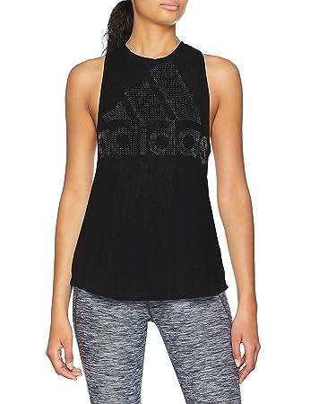 adidas Magic Logo Womens Training Short Sleeve Top Black