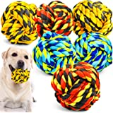 XL Dog Chew Toys for Aggressive Chewers, Dog Balls for Large Dogs, Heavy Duty Dog Toys with Tough Twisted, Dental Cotton Dog