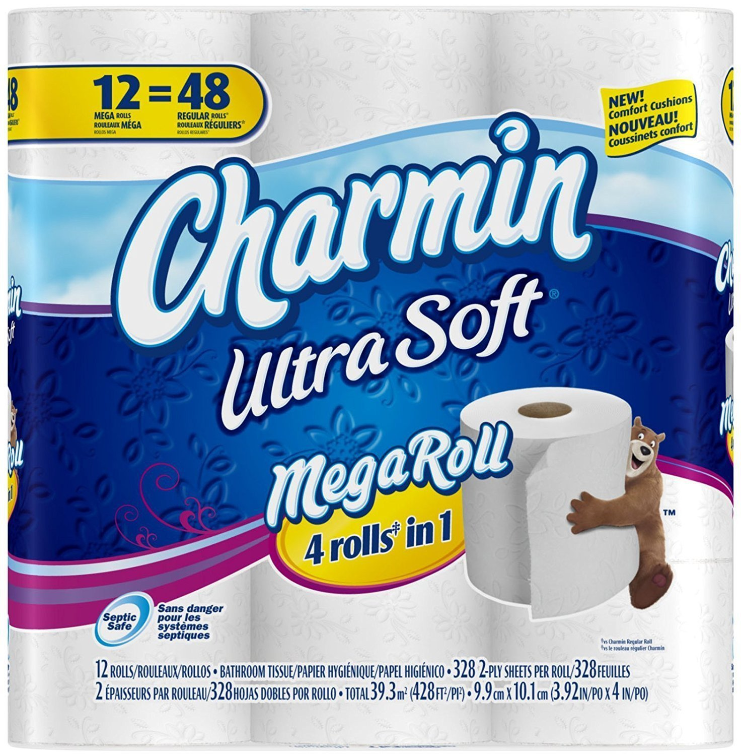 Amazon.com: Charmin Ultra Soft Toilet Paper 12 Mega Rolls=48 Regular Rolls: Health & Personal Care