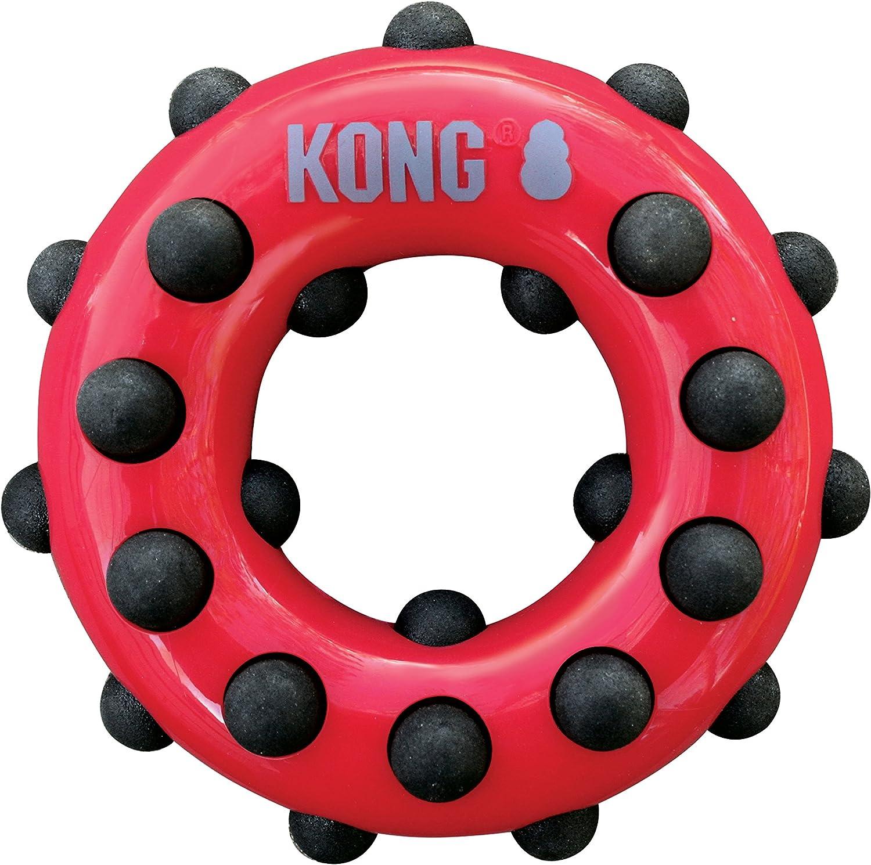 KONG - Dotz Circle - Juguete mordedor para perros - Raza pequeña ...