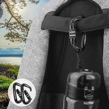 Argent Serrure de verrouillage de mousqueton s/écurit/é de bagage forte de sac de voyage de la meilleure qualit/é de Ring D pour la serrure ext/érieure de CampingCombination