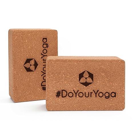 #DoYourYoga 2X Bloques de Yoga de Corcho »Kinnari« / Ladrillo de Yoga de Corcho 100% Natural, ejercer como Apoyo en determinados Ejercicios de Yoga. ...