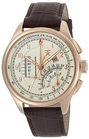 6347f2efb69 Amazon.com: TX Men's T3C193 Classic Linear Chronograph Rose Gold ...