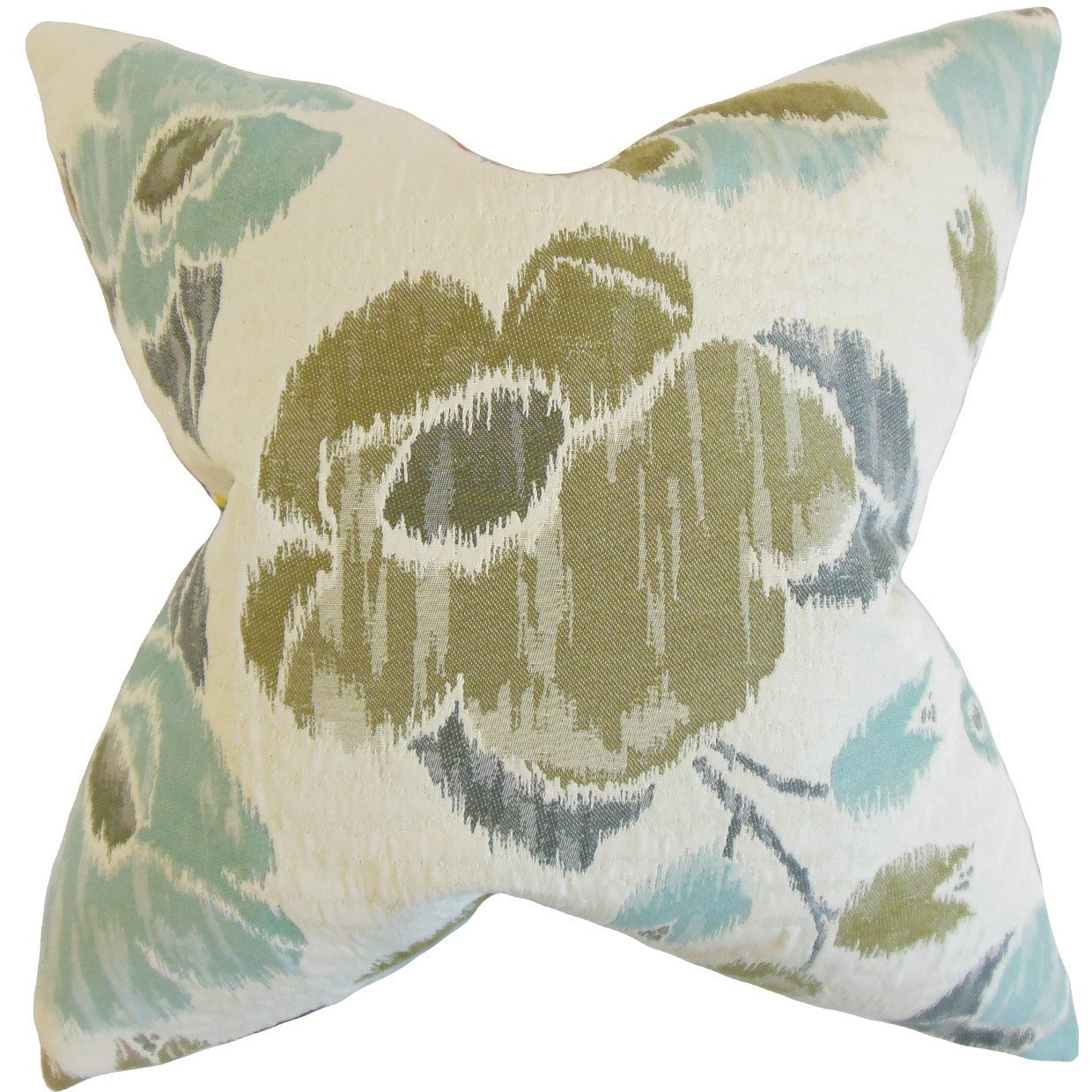 The Pillow Collection Tait Floral Rain Down Filled Throw Pillow