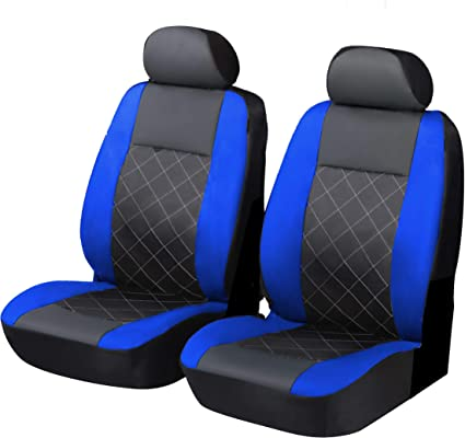 FRONT PAIR of Luxury QUILTED Protectors Car Seat Covers Renault Kangoo Van