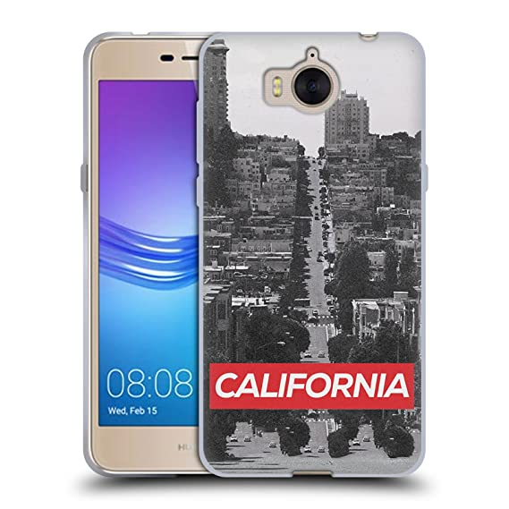 Amazon com: Official Efty California Places Soft Gel Case for Huawei