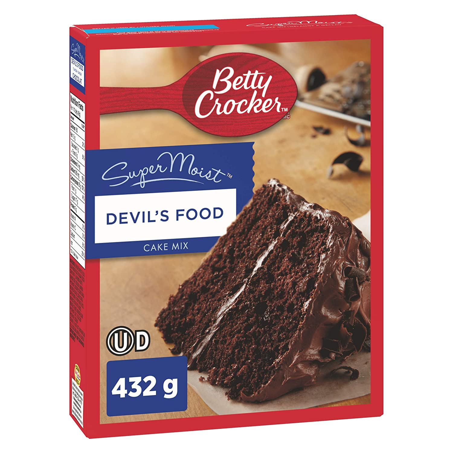 Betty Crocker Devil's Food Super Moist Cake Mix, 432g/15oz., {Imported from Canada}