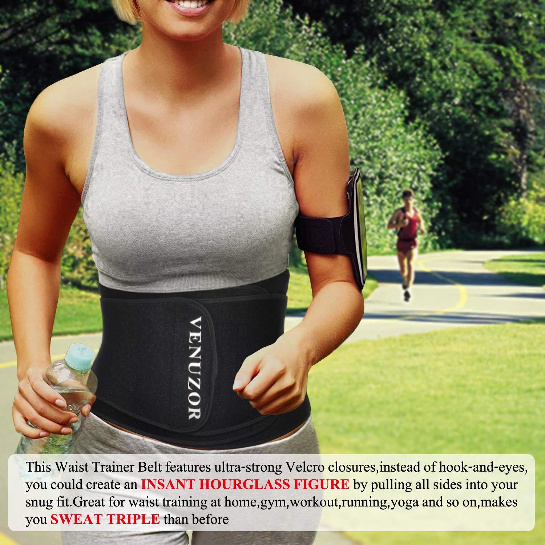 5dcebc3af Amazon.com  VENUZOR Waist Trainer Belt for Women - Waist Trimmer Slimming  Belt - Sport Girdle Weight Loss  Clothing
