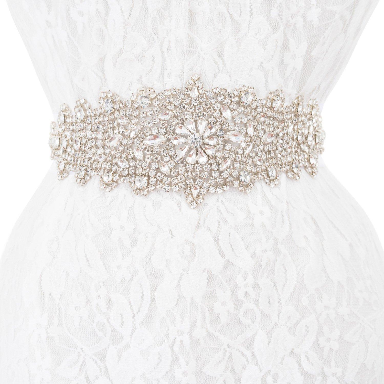 Wedding Sash Bridal Belts, Crystal Rhinestone Sash Belt Applique Wedding Party