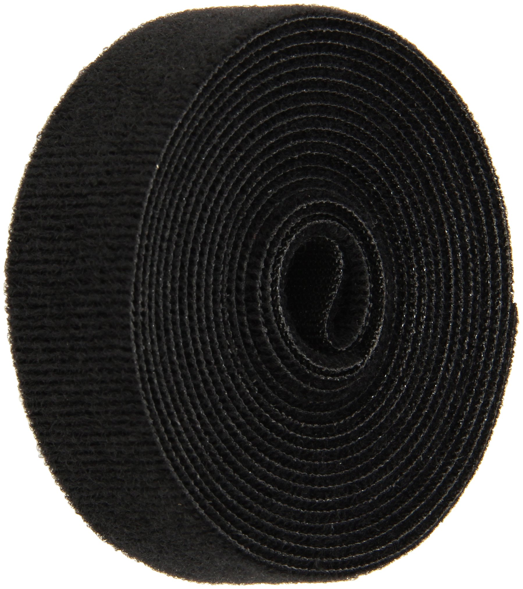 VELCRO 1804-OW-PB/B Black Nylon Onewrap Velcro Strap, Hook and Loop, 1'' Wide, 10' Length