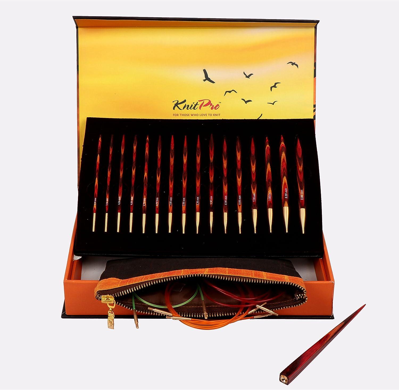 27 x 18.5 x 4.5 cm Knit Pro The Goldern Light Assorted Wood