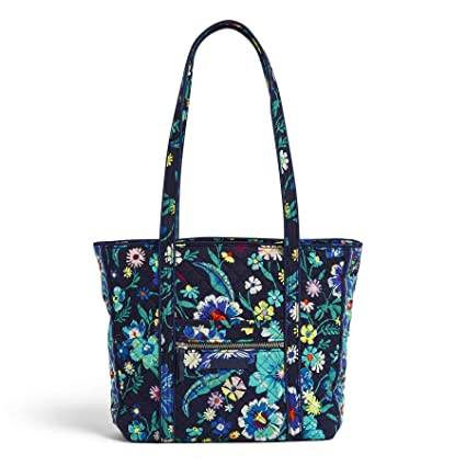 Vera Bradley Iconic Small Vera Tote, Signature Cotton, moonlight Garden