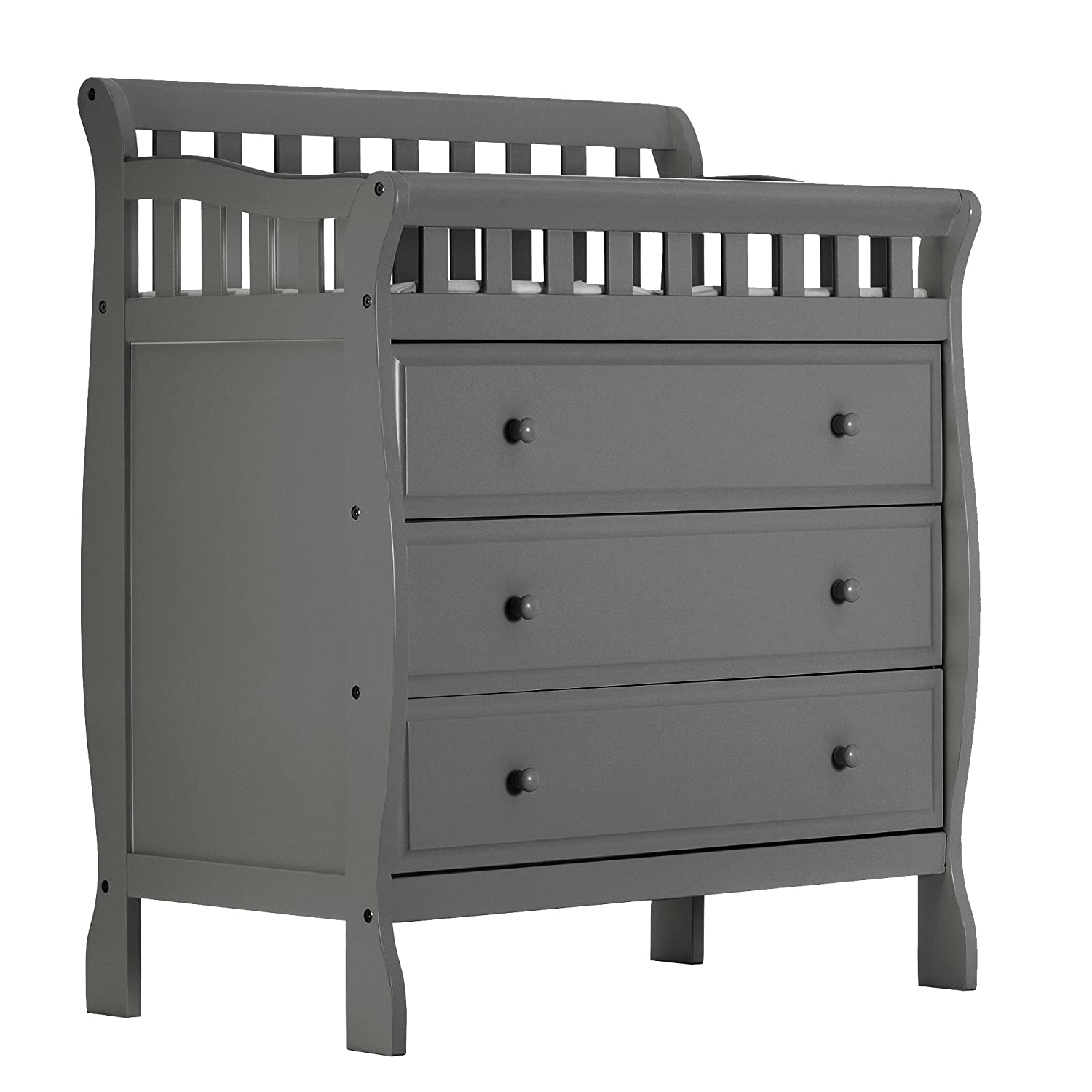 dream on me marcus changing table and dresser storm grey