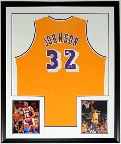 493a5de7237 Image Unavailable. Image not available for. Color: Magic Johnson Signed LA  Lakers Jersey ...