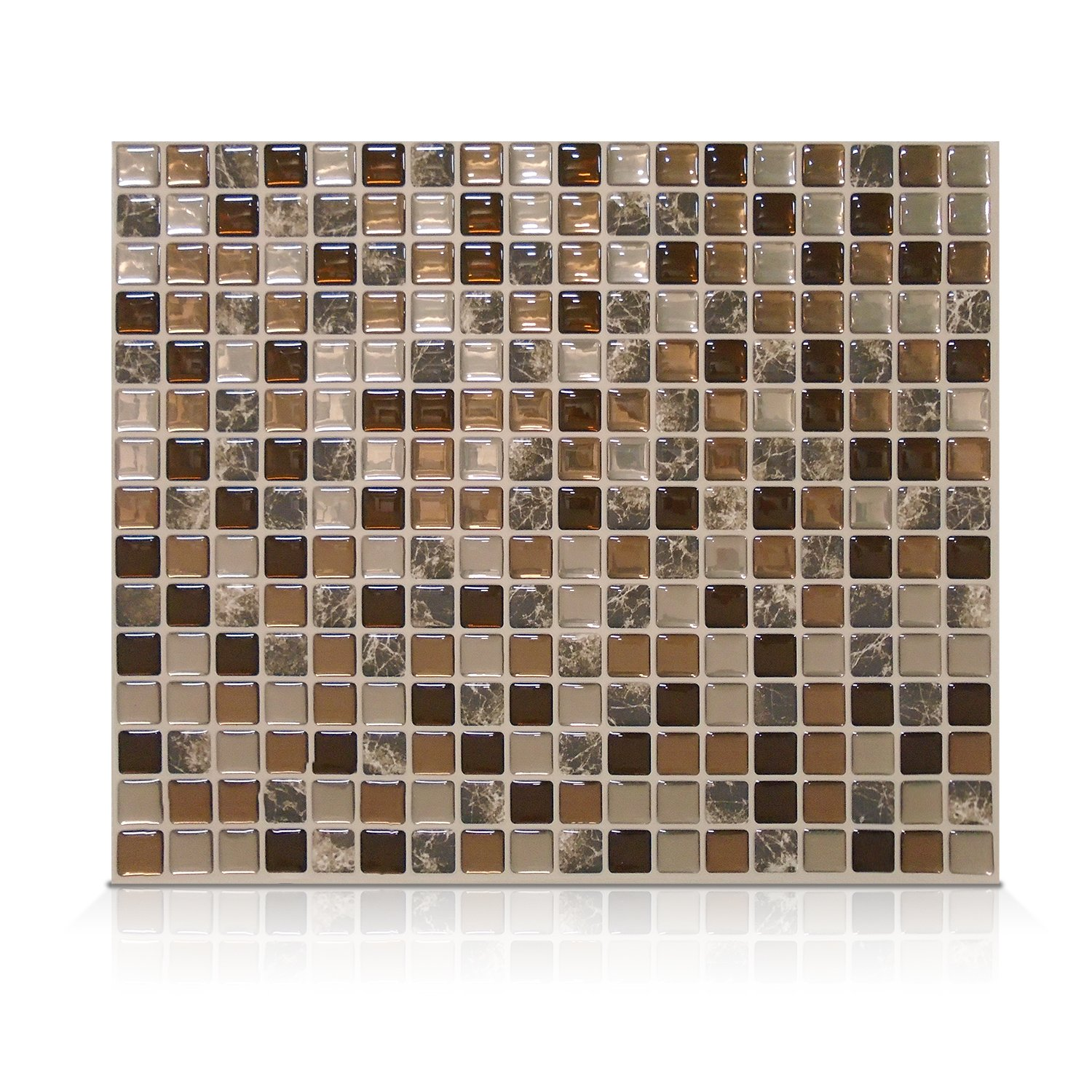 Smart Tiles Peel and Stick Backsplash and Wall Tile Minimo Roca (Pack of 4) by Smart Tiles