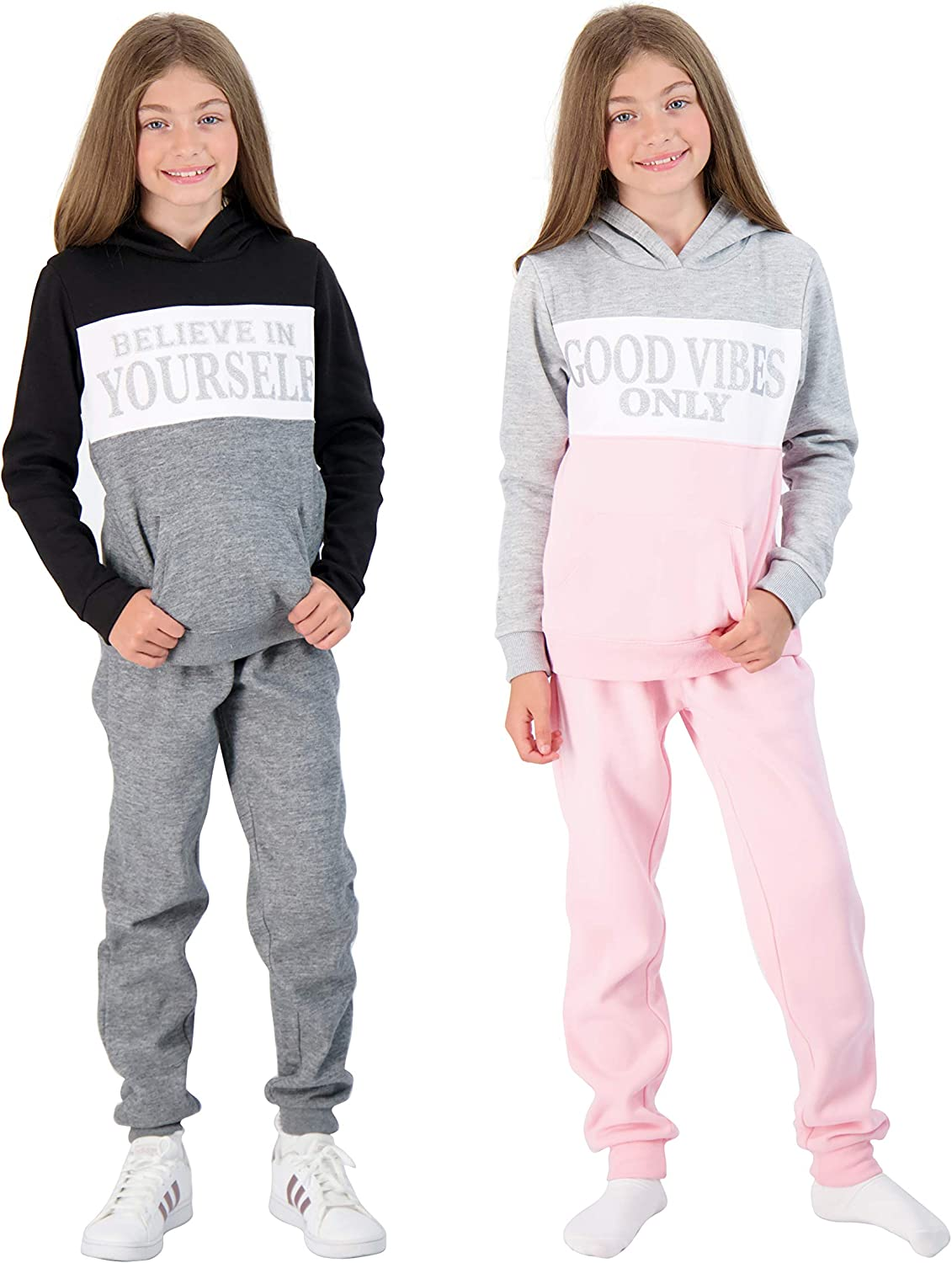 Amazon.com: Star Ride Girls 4-Piece Fleece Active Hoodie and Athletic  Jogger Sweatpants and Sweatshirt Kids Clothing Set: Clothing