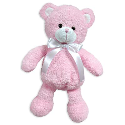 Stephan Baby Super Soft Shaggy Plush Floppy Bear, Pink (Discontinued by Manufacturer): Baby