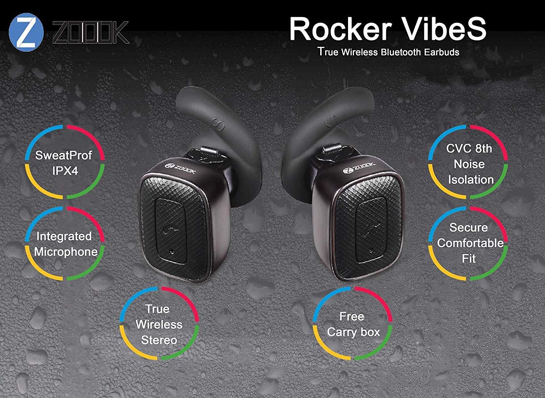 56e82fa6877 Zoook Rocker Vibes True Wireless Earphones with: Amazon.in: Electronics