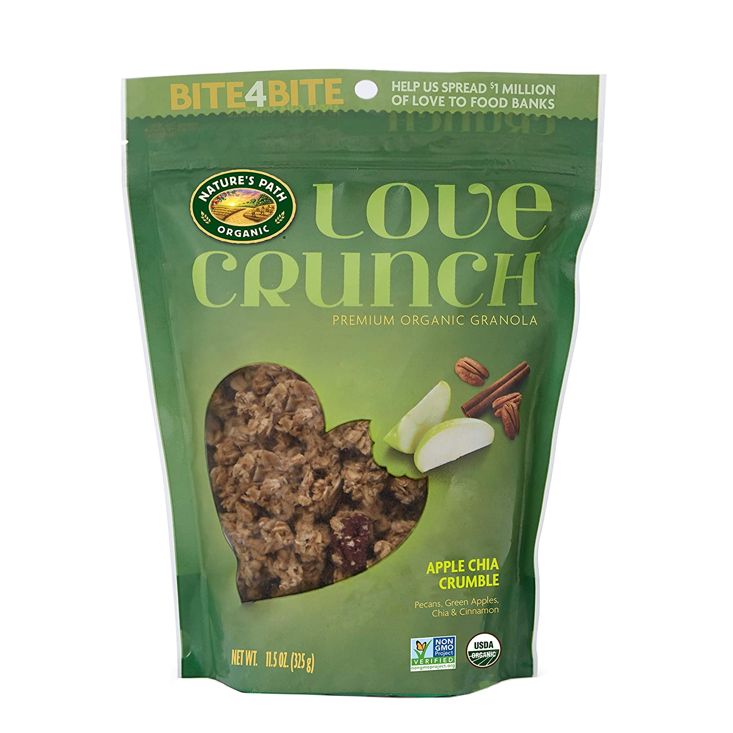 Nature's Path Organic Love Crunch Premium Granola, Apple Chia Crumble, 11.5 Ounce (Pack of 6)