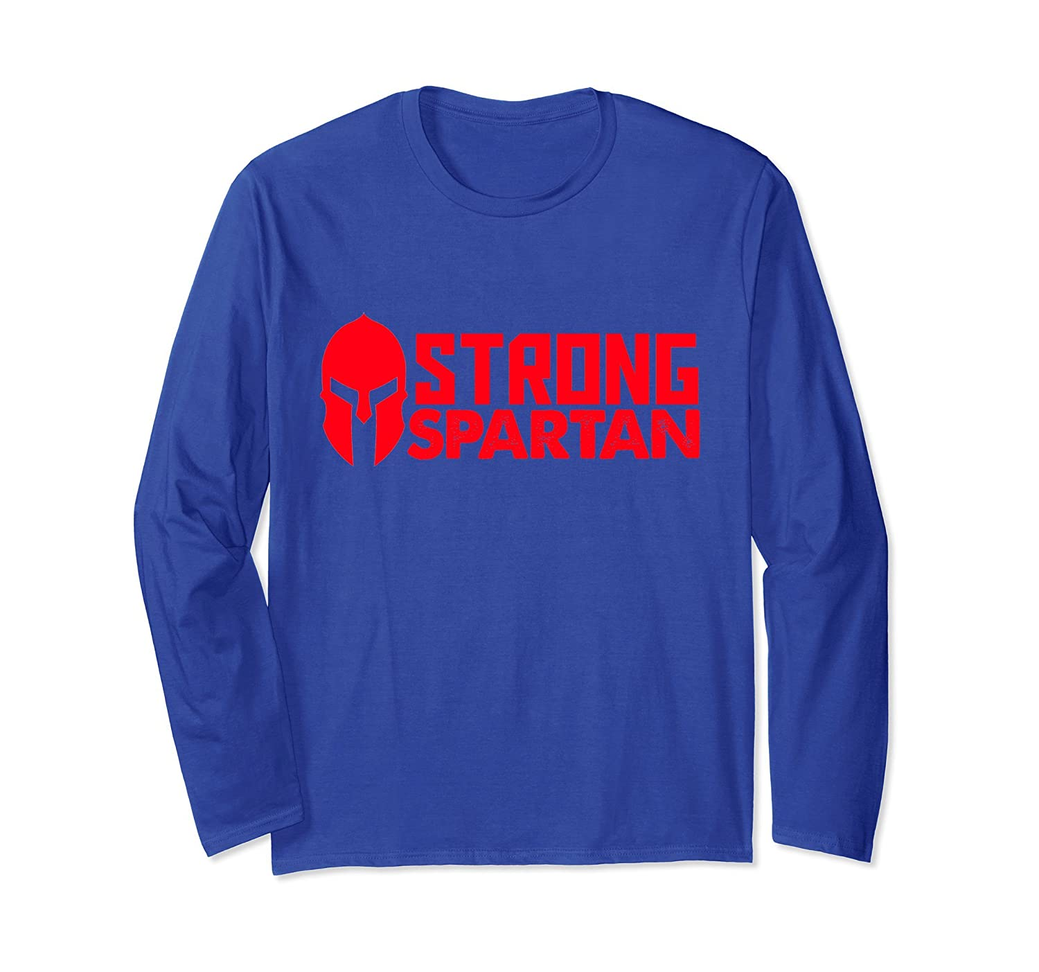 STRONG Spartan Warrior Long Sleeve T-Shirt for Race Gym-anz