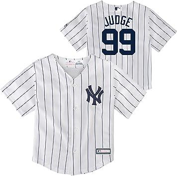 Outerstuff Aaron Judge New York Yankees #99 - Camiseta de Manga Corta para niño