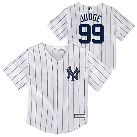 purchase cheap 2d123 4c573 Outerstuff Aaron Judge New York Yankees Infant, Toddler, Preschool Cool  Base Home Jersey