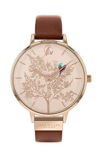 Sara Miller Chelsea Collection SA2012 - Reloj de Pulsera (bañado en Oro Rosa, Correa