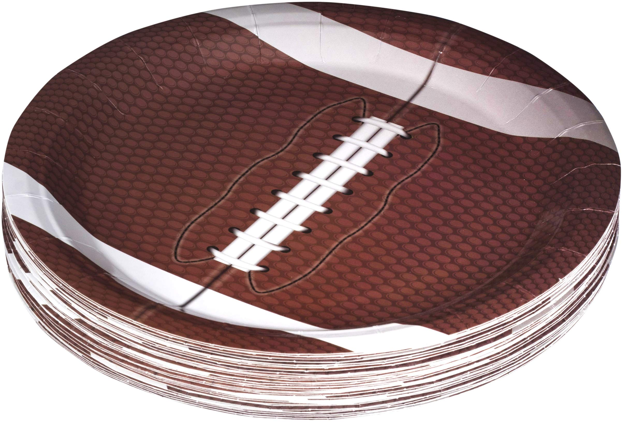 Football Themed 9'' Disposable Round Paper Plates -Superbowl Party Supplies Ideal for Tailgate Parties,Family Dinner and Sports Event (50 Pack) by Hammont