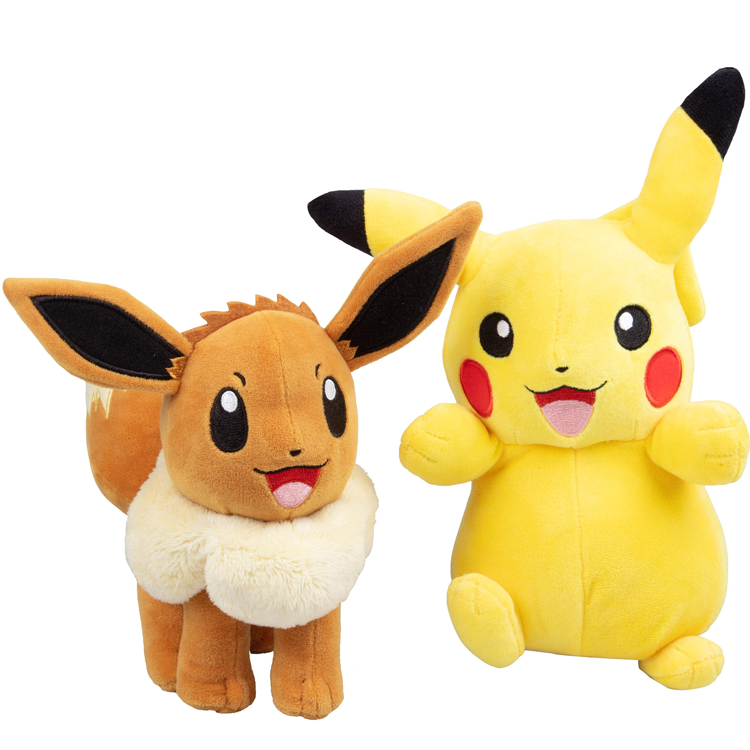 Pokémon Eevee and Pikachu 2 Pack Plush Stuffed Animals 8 Inch by Pokemon