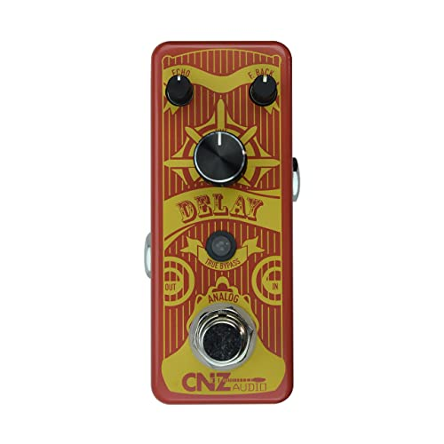 CNZ Audio Analog Delay Guitar Effects Pedal, True Bypass