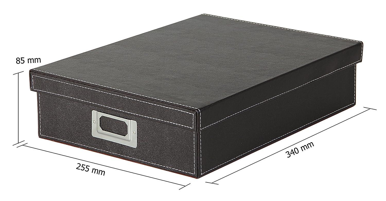 Osco A4/in finta pelle Scatola Black