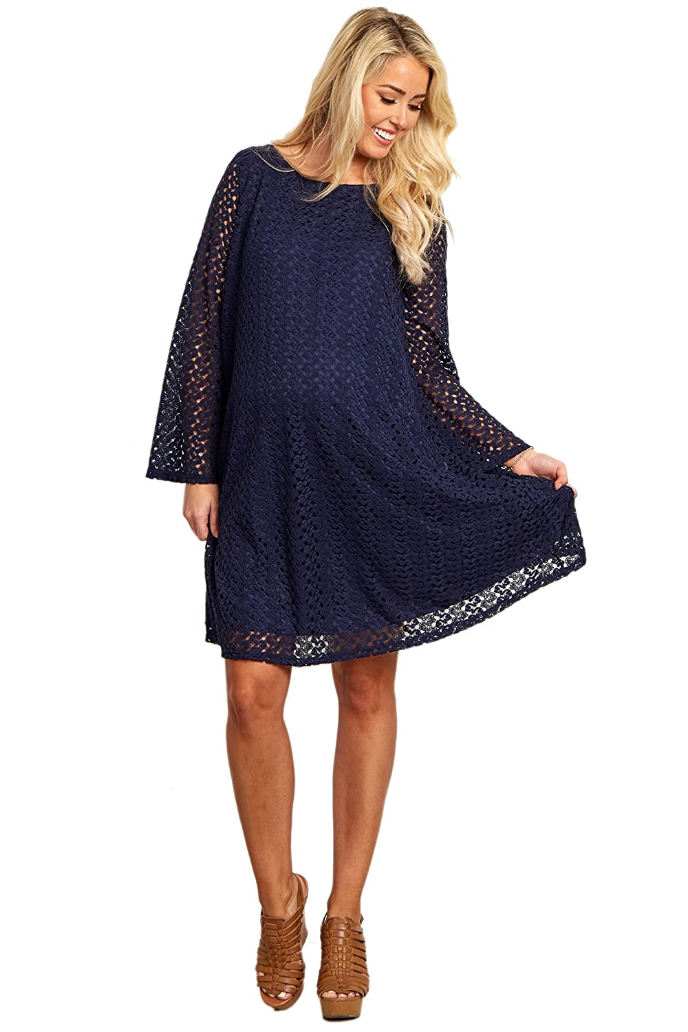 Pinkblush maternity open lace overlay bell sleeve dress at amazon pinkblush maternity open lace overlay bell sleeve dress at amazon womens clothing store ombrellifo Image collections