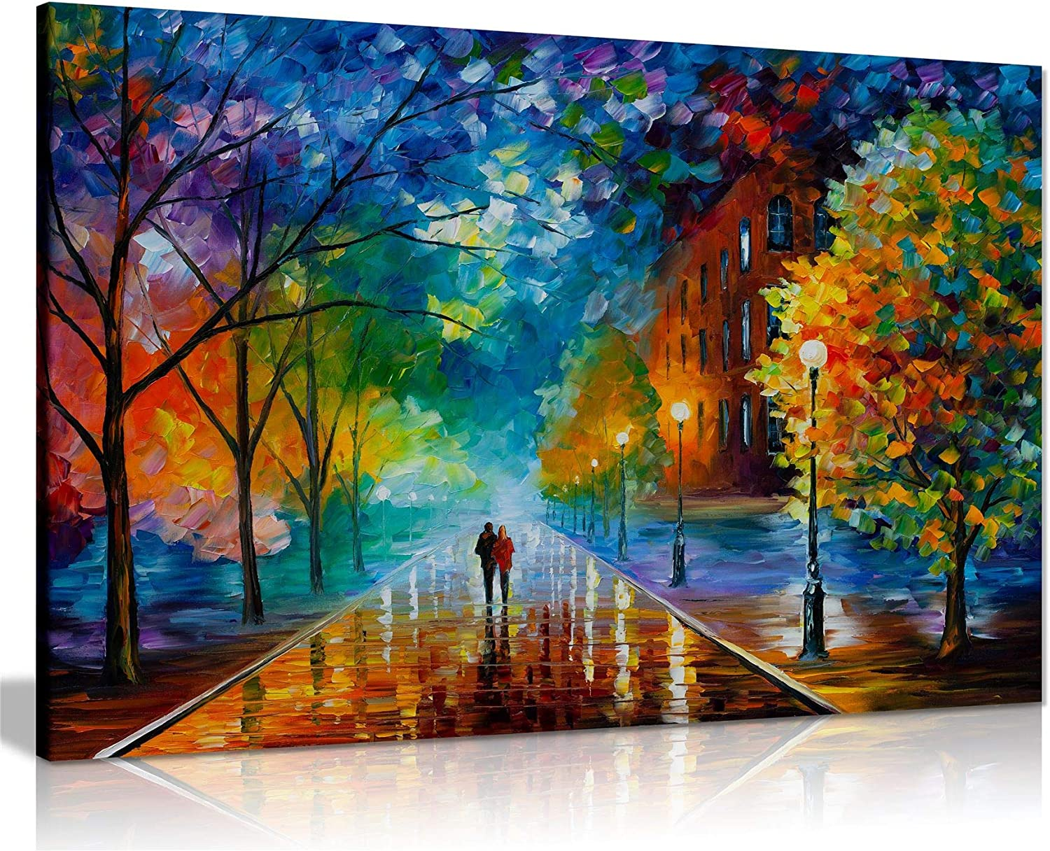 Freshness Of Cold By Leonid Afremov Canvas Wall Art Picture Print For Home Decor 24x16 Posters Prints