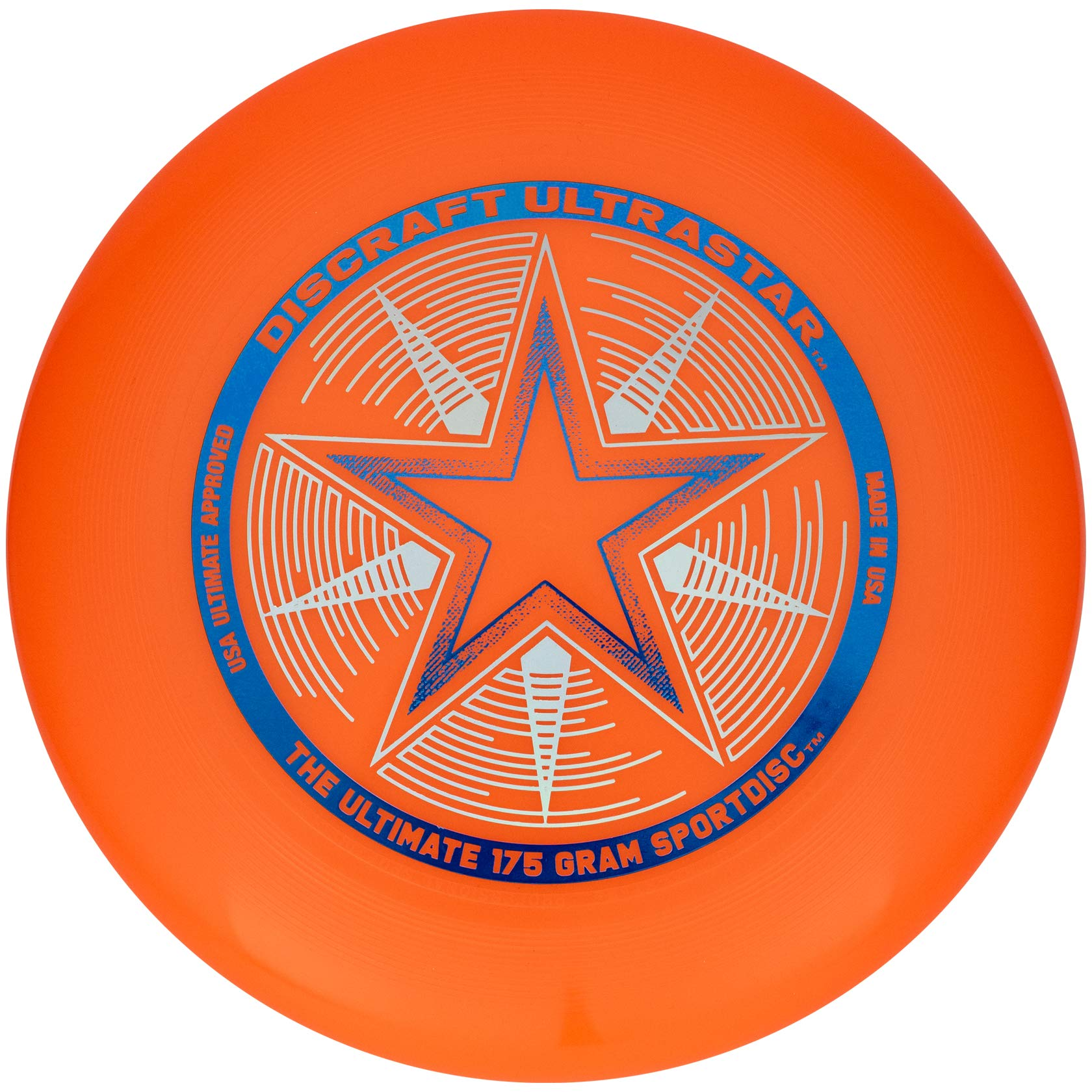 Discraft 175 gram Ultra Star Sport Disc, Bright Orange by Discraft