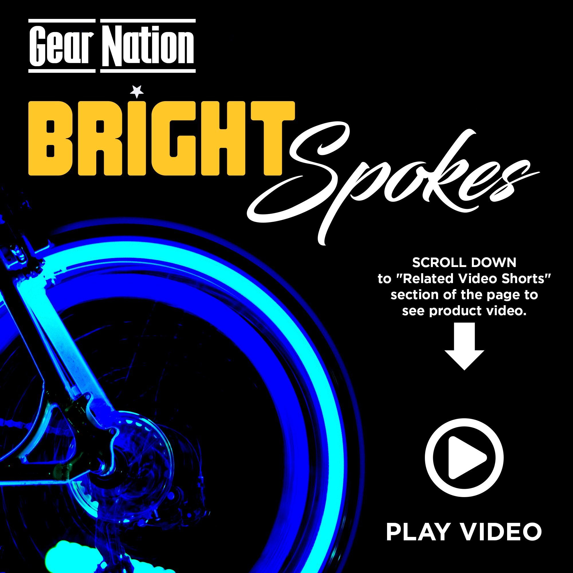 Bright Spokes Premium LED Bike Wheel Lights | 7 Colors in 1 | USB Rechargeable Battery | Strong Silicone Tube Cover | 18 Modes | Best Gift for all ages | 5, 6, 7, 8, 9 + year old boy gifts (1 Tire) by Gear Nation (Image #2)