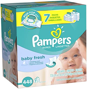 Pampers Baby Fresh Baby Wipes - Flip Top - 448 ct