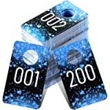 Jetec Live Plastic Number Tags Consecutive Live Number Tag, Reusable Normal and Reversed Mirrored Image Number Tags for…