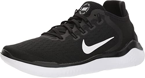 Nike Women s Free RN 2018 Running Shoe Black White 6 M US