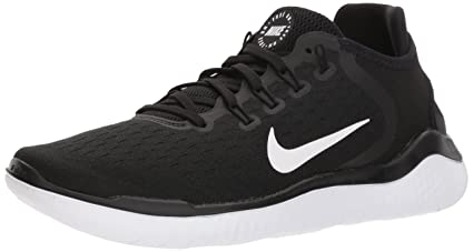 7f7ce4a6d02 Nike Women's Free RN 2018 Running Shoe Black/White Size 8 M US