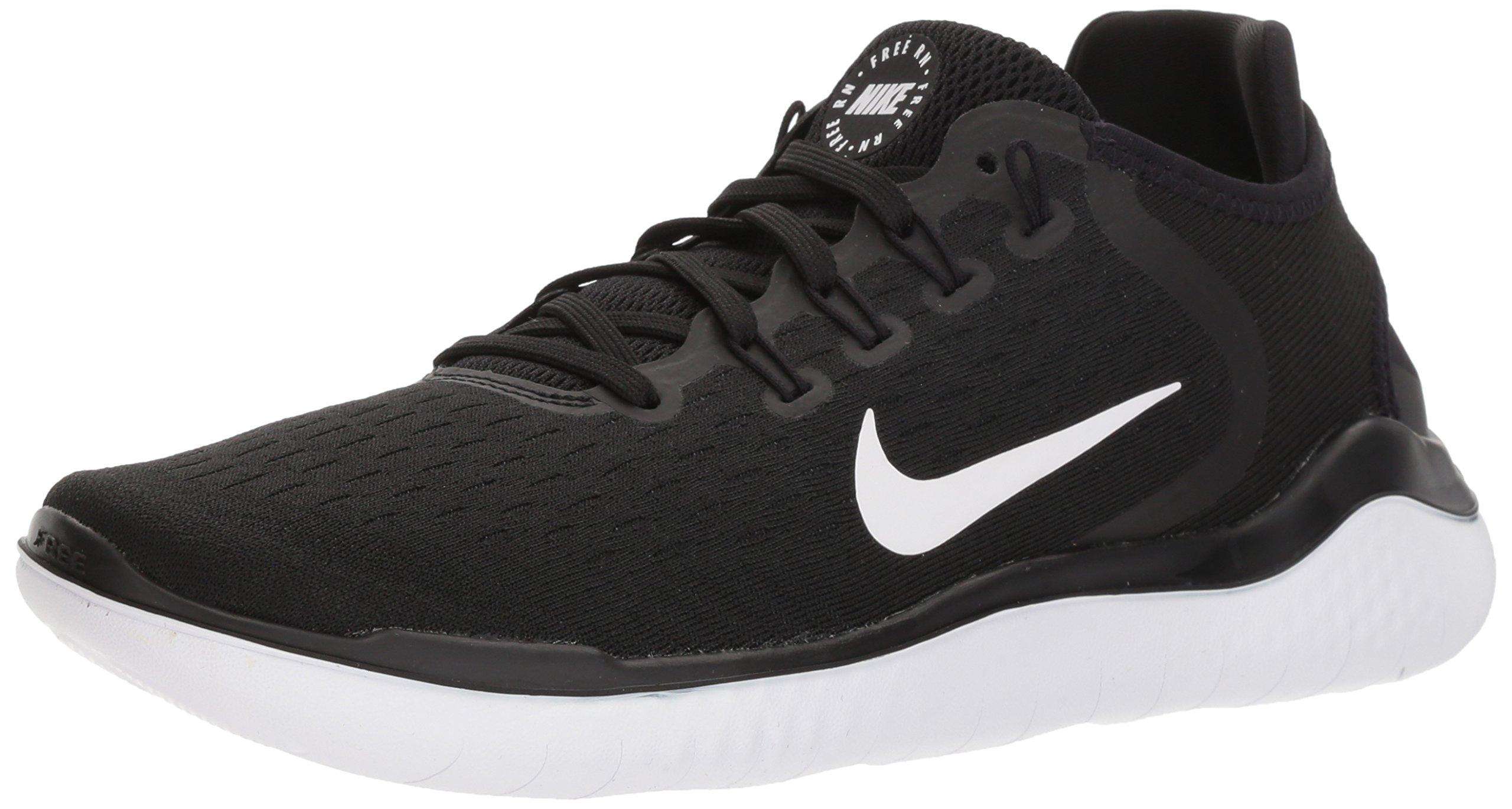NIKE Women's Free RN 2018 Running Shoe Black/White Size 8 M US