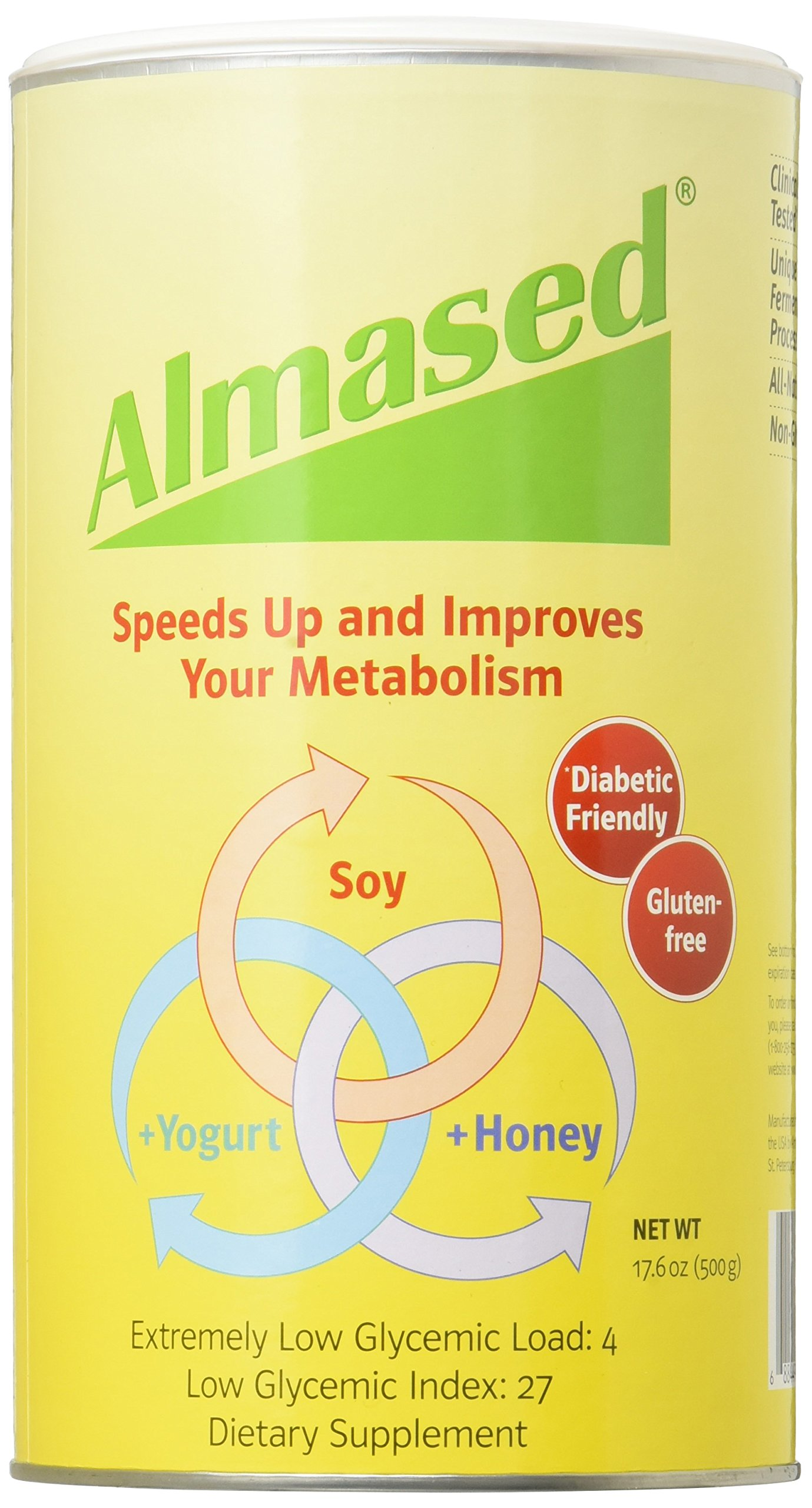 Almased Multi Protein Powder, 17.6 oz (500 g)(pack of 3)