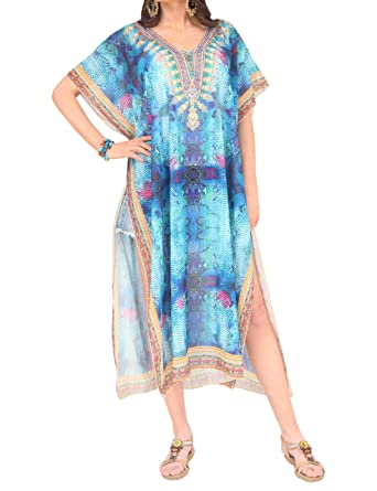 37dab3c1d1cfd MissShorthair Kaftan Dresses for Women Long Caftan Summer Maxi Dress Plus  Size Cover Up at Amazon Women's Clothing store: