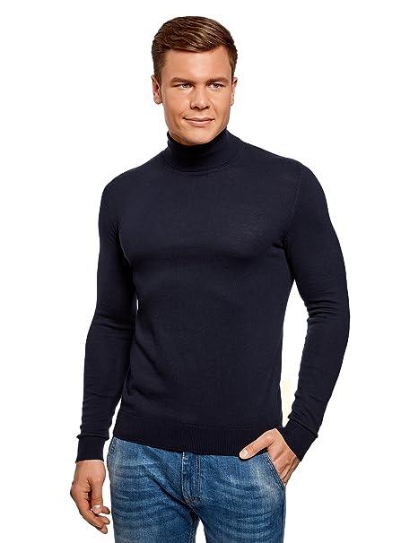 oodji Ultra Hombre Suéter de Algodón con Botones en el Cuello DZcykAGNS