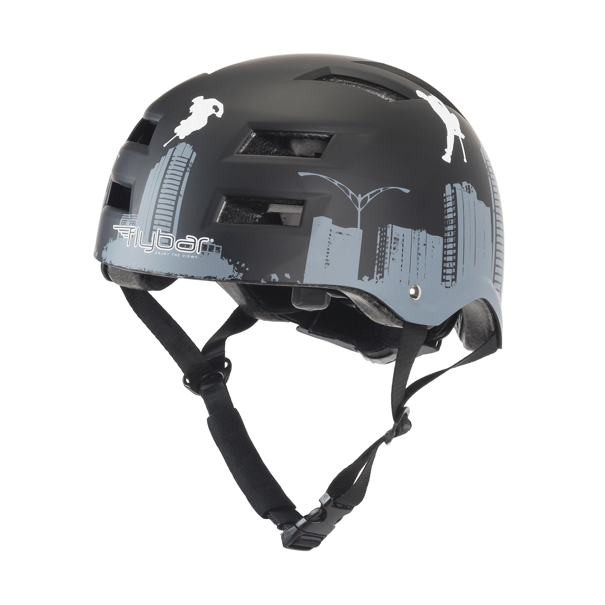 Flybar Dual Certified CPSC Multi Sport Kids and Adult Bike And Skateboard Adjustable Dial Helmet, M-L, Flyscraper