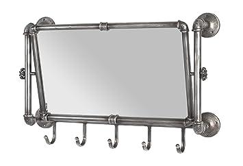 Haku Mobel 13815 Wandgarderobe Metall Anthrazit 75 X 16 X 45