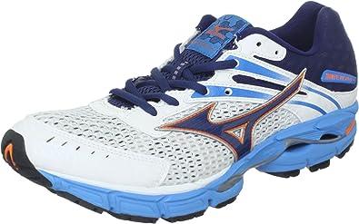 Mizuno Mens Wave Inspire 9 Running Shoe,White/Dress Blue,10 D US ...