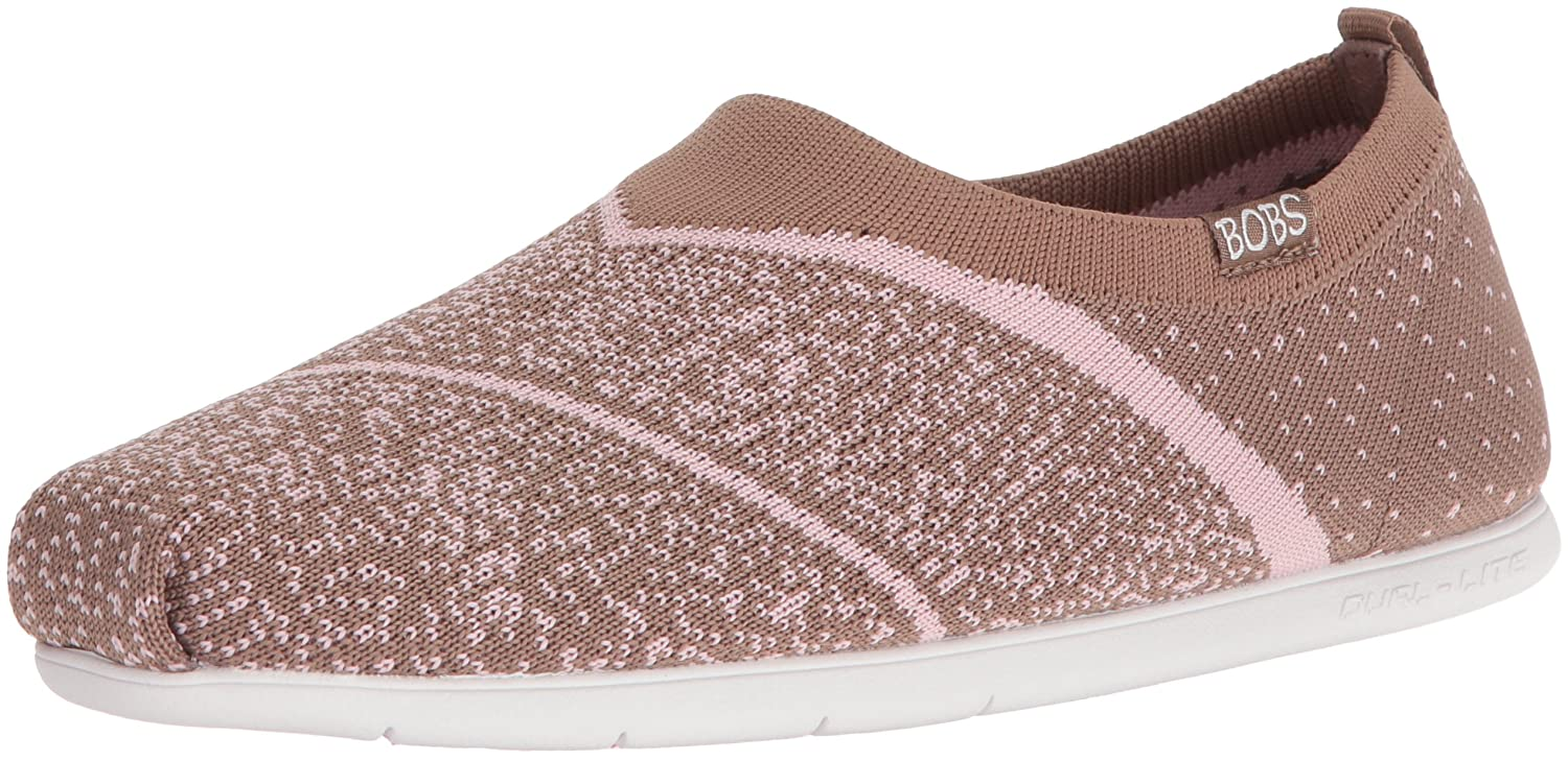 Skechers BOBS from Women's Plush Lite Sox Hop Flat B01G620COO 7.5 B(M) US|Taupe/Pink