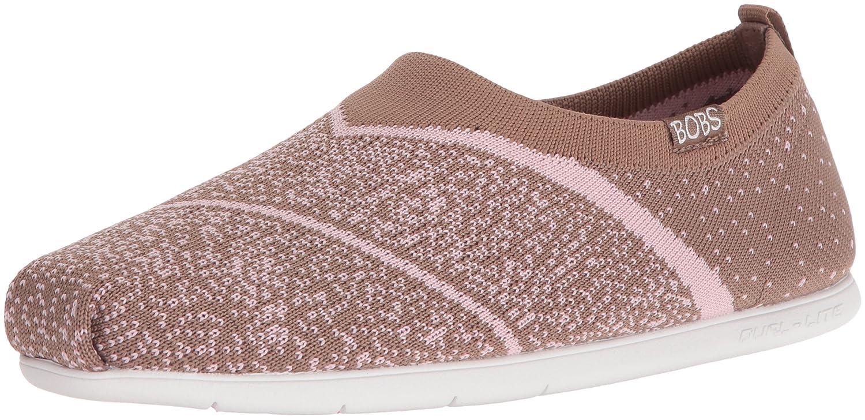 Skechers BOBS from Women's Plush Lite Sox Hop Flat B01G620E4M 7 B(M) US|Taupe/Pink