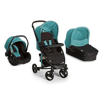 Hauck Miami 4S Trio Set - Coche de bebes 3 piezas de capazo, sillita y Grupo 0+ para recién nacidos hasta bebes/niños de 15 kg, cesta grande para la ...